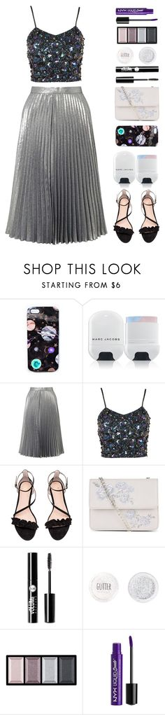 """""""Pleated Skirt"""" by florence2000 ❤ liked on Polyvore featuring Nikki Strange, Marc Jacobs, Miss Selfridge, Lace & Beads, H&M, New Look, Charlotte Russe, Topshop and Clé de Peau Beauté"""