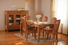 Justine Leg Table from Simply Amish furniture