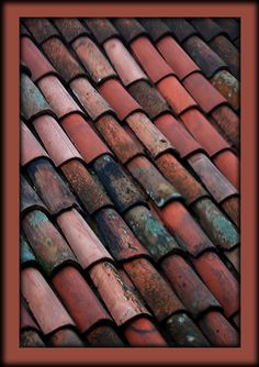 this is the color I think of when I think of Venetian red.slightly dusty-rosy.just a more muted terre cotta.these are Venetian tiles. Bordeaux, Beautiful Architecture, Architecture Details, Scarlet, Copper Gutters, Roof Styles, Terracota, Colour Board, Red Accents