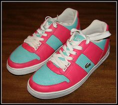 LACOSTE THRILL PUNCH AQUA/PINK THRILL PUNCH SNEAKERS! $30.00 FREE Ship! L@@K in Poppyseed store on EBay!