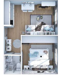 Sims 4 House Plans, House Layout Plans, Modern House Plans, House Layouts, House Floor Plans, House Floor Design, Sims 4 House Design, Small House Interior Design, Tiny House Design