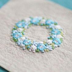 * . Nemophila . . #刺繍#手刺繍#ステッチ#手芸#embroidery#handembroidery#stitching#needlework#자수#broderie#bordado#вишивка#stickerei