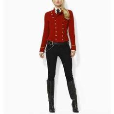Red military jacket. RL