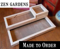 DESKTOP ZEN GARDEN made to order sizes, wood boxes miniature zen garden