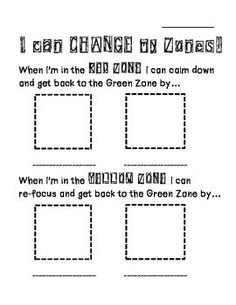 Zones of Regulation- Change the Zone You're In
