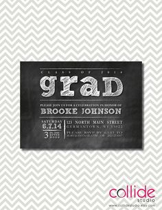Graduation Party Invitation - Chalkboard