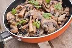 Champignons gemarineerd met o.a. knoflook en peterselie. Uit de oven of…