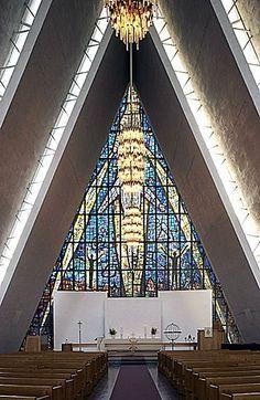 Aartic Cathedral Tromsø, built in 1965, Norway