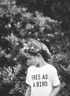 Free As A Bird Kids Tee | The Bee & The Fox on Etsy