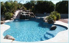 Pool Slide.. Salt water pool yes please!