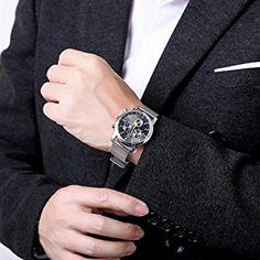 Damen-Quarzuhr mit schwarzem Zifferblatt Analog-Anzeige und Silber Metall Gurt Kollokation Armbanduhr: Amazon.de: Uhren