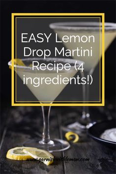 Easy and delicious, this Lemon Drop Martini recipe will make you look like a master bartender. Best Vodka Drinks, Fun Drinks, Yummy Drinks, Martini Recipes, Drink Recipes, Easy Lemon Drop Martini Recipe, Citrus Recipes, Recipe For 4, 4 Ingredients