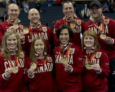 SOCHI, Russia — Canada's men's and women's curling teams have arrived in Sochi for the 2014 Winter O Back Row, Front Row, Bali, I Am Canadian, Jennifer Jones, Curlers, Winter Olympics, S Man, Female Athletes