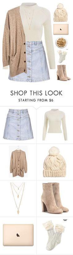 """Cozy day"" by genesis129 ❤ liked on Polyvore featuring Topshop, Madewell, H&M, Forever 21, Gianvito Rossi, Aéropostale, women's clothing, women's fashion, women and female"