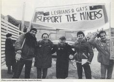 Coal miners' strike in south Wales, 1984-85. The film Pride was based on this,well worth watching,it's uplifting,funny and sad at the same time.