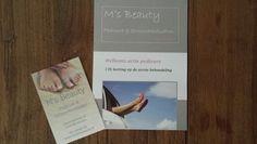 Flyer en visite kaartje www.mirjamsbeauty.nl