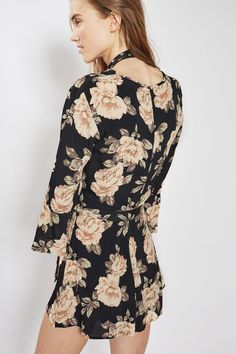 2a00424fe1 Dark Blossom Wrap Playsuit - Rompers   Jumpsuits - Clothing