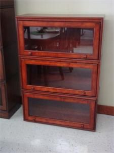 Amish stacking barrister bookcase also called lawyer's bookcase
