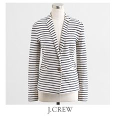 J. Crew Stripe Cotton Blazer