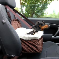 Pet Car Carrier Bed with Safety Belt for Dog/Cat Puppy/Travel Bag Booster Seat | eBay