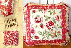 Butterscotch & Rose Pretty Piped Pillow Love..........