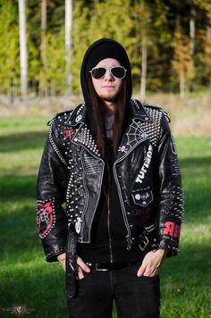 Baza's Turisas, Sabaton, Iron Maiden, Leather battle jacket Battle Jacket | TShirtSlayer