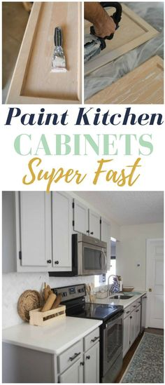 How to Paint Kitchen Cabinets Super Fast - Some serious time saving tricks here!