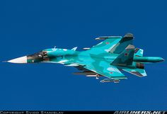 Russian Air Force Sukhoi Su-34 38 RED MAKS 2015 Luftwaffe, Russian Fighter Jets, Russian Military Aircraft, Aviation World, Russian Air Force, Air Fighter, Sukhoi, Military Pictures, Military Jets