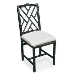 Brighton Bamboo Dining Chair - Black Chippendale
