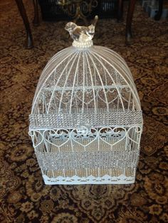 BLING BLING Bird cage card holder $100.00