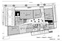 Grundriss-Ebenenübersicht #architecture #floorplan #officebuilding Zaha Hadid, Soho, Innsbruck, Floor Plans, How To Plan, Floor Layout, Architecture