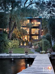 Waterfront Modern Three-Story House | LuxeSource | Luxe Magazine - The Luxury Home Redefined