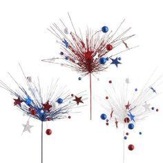 "RAZ Imports - Glittered Red, White & Blue Sprays with Stars and Balls 36"" PerfectlyFestive http://www.amazon.com/dp/B00A2XEENE/ref=cm_sw_r_pi_dp_NXOmvb1XYFXEK"