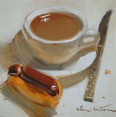 """""""A Simple Breakfast"""" - Original Fine Art for Sale - © by Elena Katsyura"""