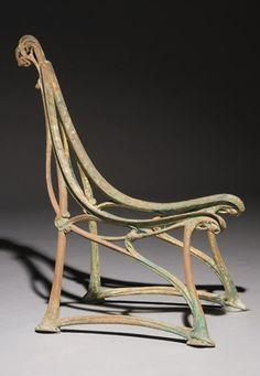 HECTOR GUIMARD GARDEN CHAIR, c. 1905, 92cm H. | SOLD Christie's Paris, $7,024 April 28, 2009