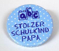 ABC Stolzer Schulkind Papa Tupfen blau