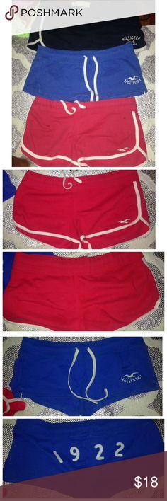 Hollister 3PCS Shorts Bundle Large Hollister 3PCS Shorts Bundle Large   PreLoved   All size large Hollister Shorts