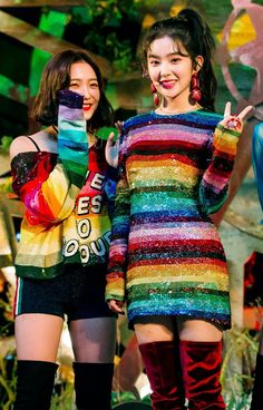 Jar Automatic Bad Boy Be Natural Bing Bing Dumb Dumb Happiness Ice Cream Cake LP Milkshake One of These Nights Parade Peek-a-Boo Power Up RBB (Really Bad Boy) Rebirth Red Flavor Rookie Russian Roulette Sappy Sunny Side Up! Would U Zimzalabim Red Velvet アイリーン, Irene Red Velvet, Seulgi, Stage Outfits, Kpop Outfits, Christina Aguilera, Kpop Girl Groups, Kpop Girls, Rihanna