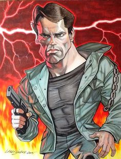 The Terminator caricature