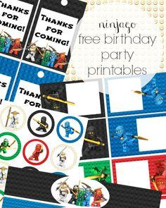 ninjago free party printables