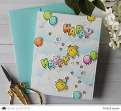 mama elephant | design blog: STAMP HIGHLIGHT: Celebration Balloons