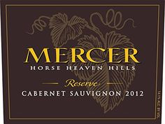 2012 Mercer Estates Cabernet Sauvignon Reserve 750 mL >>> More info could be found at the image url.