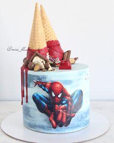 Birthday Cake Kids Boys Superhero 47 Ideas For 2019 Birthday Cake Kids Boys, Spiderman Birthday Cake, Superman Birthday Party, 3rd Birthday Cakes, Superhero Cake, Boy Birthday Parties, Batman Party, Spider Cake, Superman Cakes