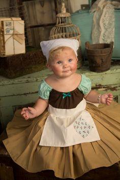 CINDERELLA costume Cinderella Work dress  for kids cute girls dress up costume apron dress baby costume on Etsy, $52.00