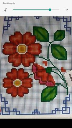Embroidery, Mary, Ideas, Beautiful Red Roses, Cross Stitch Rose, Cross Stitch Pictures, Cross Stitch Embroidery, Cake, Hand Embroidery