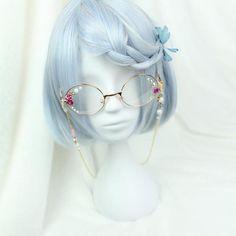 Sweet Harajuku Original Blue And White BoBo Mixed Lolita Wigs Anime Wigs, Anime Hair, Kawaii Hairstyles, Cute Hairstyles, Cosplay Kawaii, Kawaii Wigs, Harajuku, Mode Kawaii, Estilo Lolita