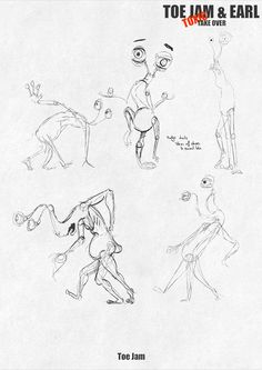 Toe Jam and Earl Concept Work - Pagewood Studios