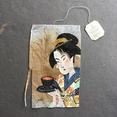 When is a tea bag more than just a tea bag? In January New York-based artist and graphic designer Ruby Silvious began a tea-licious new project: she would record impressions of the moment eve… Tea Bag Art, Tea Art, Tea Japan, Used Tea Bags, Ap Studio Art, Coffee Art, Art Studios, Altered Art, Altered Books
