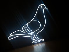 """Led neon sign """"pigeon"""" Custom Neon Signs, Led Neon Signs, Home Signs, Pigeon, Wedding Signs, Etsy Seller, Unique Jewelry, Handmade Gifts, Vintage"""