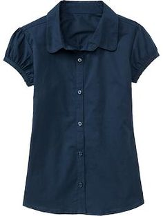 Girls Uniform Ruched-Sleeve Tops   http://oldnavy.gap.com/browse/product.do?cid=1015519&vid=1&pid=521877012
